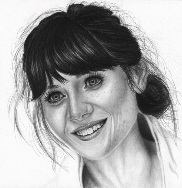 Zooey Deschanel by Hillcza